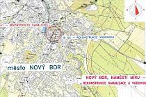 Rekonstrukce technicky nevyhovujících úseků kanalizace i vodovodu, na které je připojeno až dvě stě obyvatel města, začala na Náměstí Míru v Novém Boru.