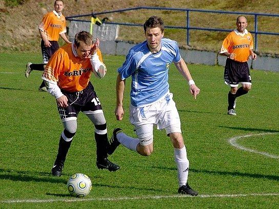 Snímek ze zápasu Stráže pod Ralskem a Bukovan.