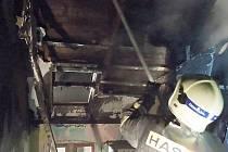 Sobotní požár v Novém Boru.