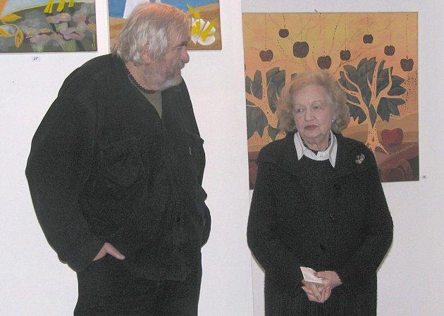 Herečka Blanka Bohdanová vystavuje v zákupské galerii.
