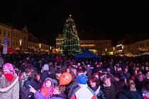 Rozsvícení vánočního stromu v České Lípě.