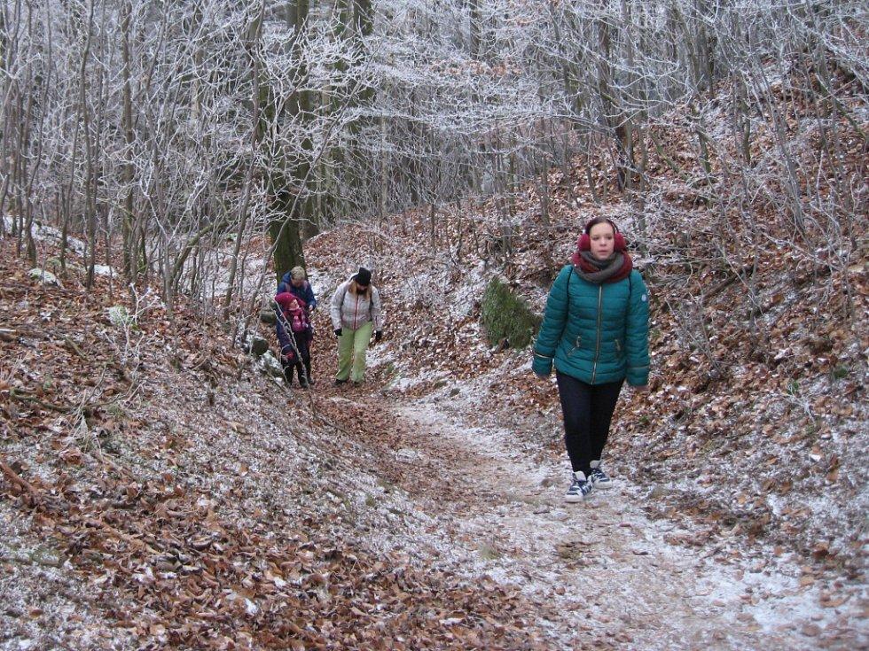 Silvestrovský výstup na hrad Děvín.