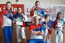 Mladí českolipští karatisté měli na Libereckém poháru talentů medailové žně