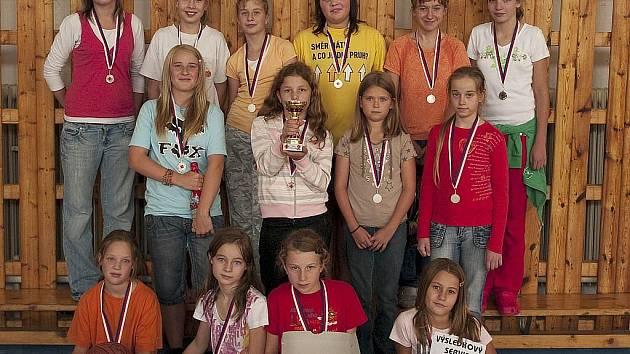 Děvčata z basketbalového oddílu TJ DDM Česká Lípa (roč. 1997) se zúčastnila  10. ročníku MINI KRA-KOŽ CUPU - turnaje pořádaného Dívčím basketbalovým klubem Kožlany.