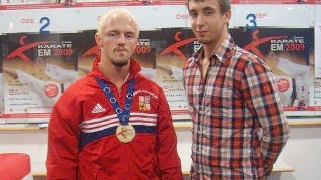 Adam Zdobinský (vlevo) vybojoval na ME bronz.  Jakub Kolek obsadil solidní šestou příčku.