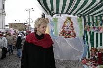 Stanislava Silná na novoborském trhu