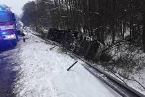 Nehoda kamionu u Stvolínek.