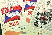 Na dvanácti listech jsou v návaznosti na zásadní historické události posledních sta let vyobrazeny vybrané momenty spjaté s naším regionem.