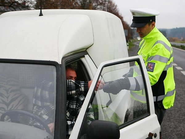 Policejní kontroly vJestřebí.