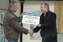Mogul Safety Cup věnoval Dětské dopravní nadaci za odškolené řidiče 21 460 Kč.