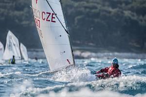Vsilném větru jel výborně Lukáš Kraus zJK Česká Lípa, který se díky tomu posunul na celkové šesté místo.