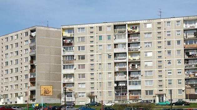 Panelové domy na sídlišti Špičák