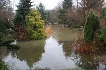 Zahrada Surovcových ve Stružnici působila úchvatným dojmem, i když byla z větší části zatopená.