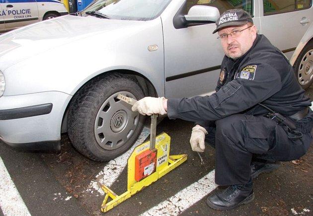 Strážník českolipské městské policie.