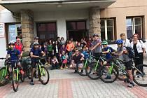 Děti z dětského domova v Krompachu vyrazily na kolech k Baltu.
