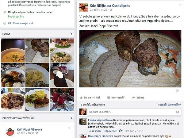 Desítky hodnocení ikomentářů ke stravování vrestauracích vregionu lze najít na facebookové stránce Kde NE/jíst na Českolipsku.