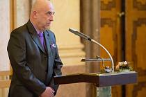 Starosta Kravař Vít Vomáčka promluvil během ceremonie.