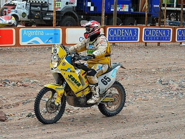 Motocyklový závodník David Pabiška.