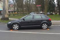Zadržené Audi v Doksech.