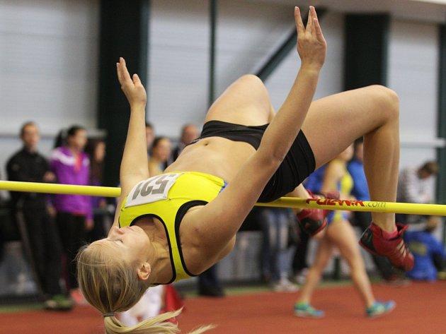 Veronika Süssnerová skončila ve výšce třetí. Vyhrála její týmová kolegyně Kamila Ajšmanová.