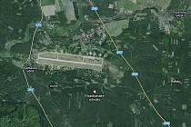 Letecká mapa Ralska.