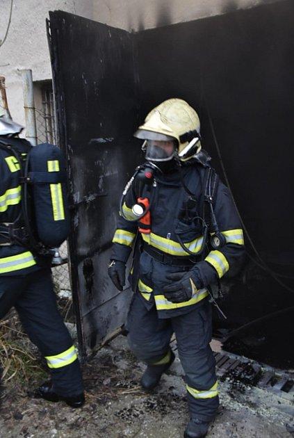 Požár kotelny ve Skalici uČeské Lípy.