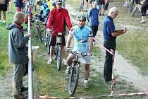 Důležitou součástí her byla i cyklistika, která tvořila jednu osminu celkových bodů. Jedním z favoritů byl i Zdeněk Arnold (na startu) z týmu SBV Trading, který nakonec dojel šestý