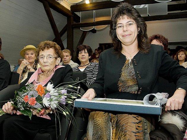 Manželka Rudolfa Novotného Jana a vnučka Lucrezia Škaloudová Puchmajerová