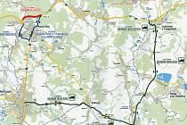 Objízdné trasy, které v Novém Boru platí kvůli úplné uzavírce Egermannovy ulice, budou muset o víkendu využít také řidiči mířící z Liberce na Děčín a opačně. Práce silničářů totiž uzavřou část obchvatu.