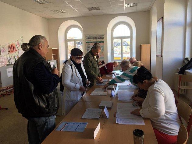 Prvními voliči byli vNovém Boru, ve volebním okrsku č. 2, pánové René Horský a Milan Rejzek