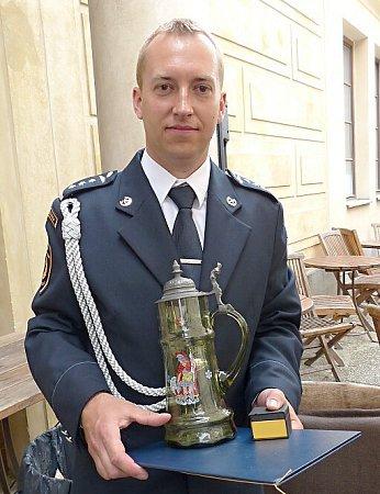 Českolipský hasič David Bauer získal cenu Generálního ředitele HZS ČR.