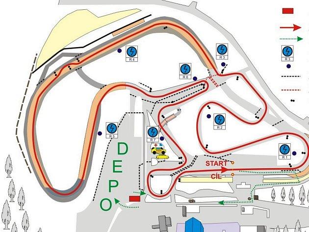 Trať prvního z pěti závodů povede na sosnovském autodromu v přibližně podobném směru, jaký je známý například ze závodu Setkání mistrů.