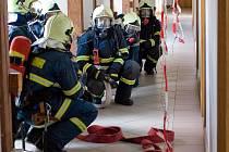 Při cvičení zasahovaly tři jednotky dobrovolných hasičů.