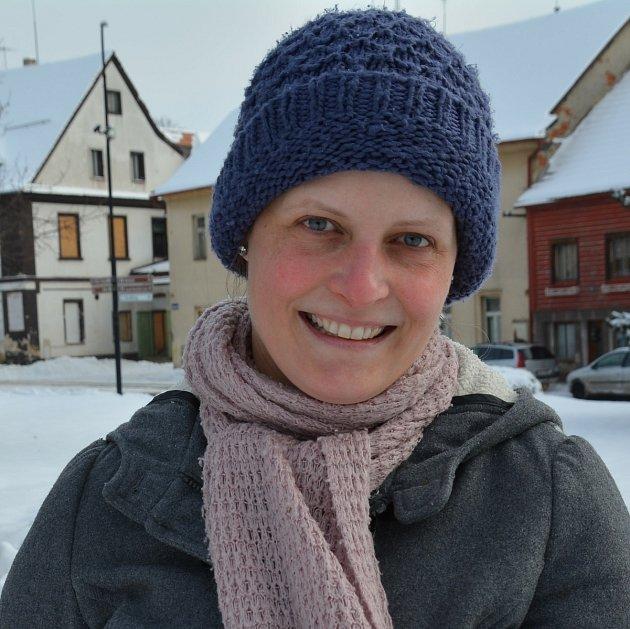 Dana Olbrichová, na mateřské dovolené