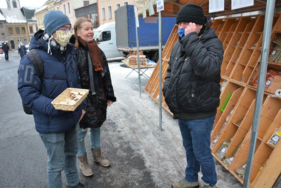 Farmářské trhy v České Lípě.