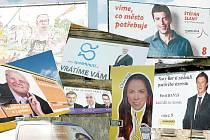 Předvolební kampaň vrcholí. Čí tváře a která předvolební hesla doprovázejí řidiče na cestách po Českolipsku?