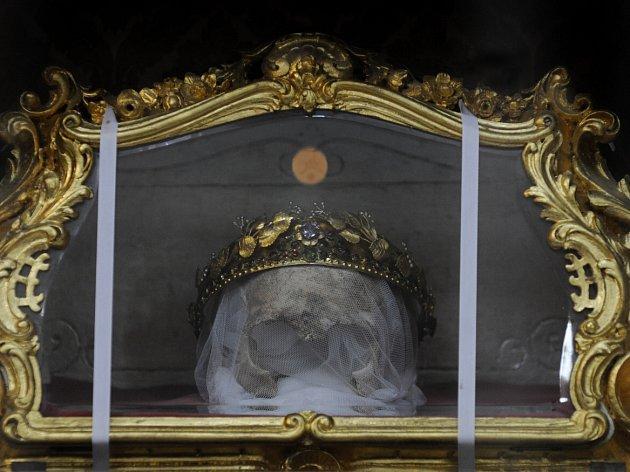 Lebka sv. Zdislavy.