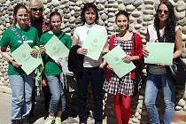 Technická škola v kyperské Nikósii připravila pro čtveřici dívek pestrý program.