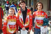 Medailisté z Jabkenic: (zleva) Martin Lamač, David Anderle a Adam Janda.