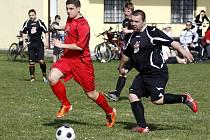 Zahrádky, poslední celek okresního přeboru, dokázaly zdolat Lokomotivu Kravaře.