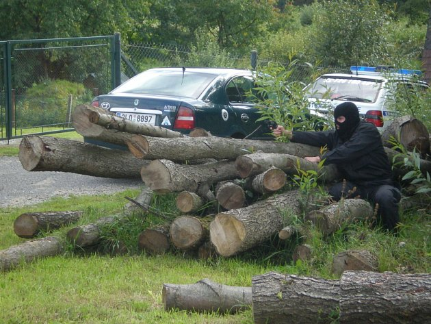 Ukázka policejní akce