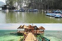 STARÉ SPLAVY DNES A ZA DVA ROKY - JAK SE VÁM LÍBÍ? Výhledy na Máchovo jezero se mají do dvou let změnit. Fotografiím turistů od Mácháče už nemá dominovat Myší ostrůvek nebo Bezděz v pozadí, ale cukrárna na molu.