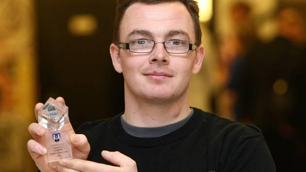 Kanoista Michal Šrámek získal v letošní anketě Deníku o Nejúspěšnějšího sportovce Českolipska druhé místo.