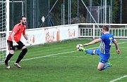 Střelu Kaňkovského domácí gólman Michalek neudržel a dorážka znamenala vyrovnání na 1:1.