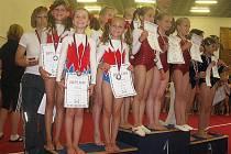 Tým ve složení Adéla Baňkowská, Aneta Baňkowská, Nela Grohová, Tereza Holinková a Kamila Jakšová vybojoval stříbrné medaile.