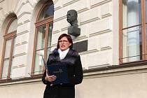 U příležitosti 170. výročí narození T. G. Masaryka se v České Lípě konalo tradiční setkání u jeho busty na náměstí.