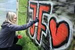 Grafitti Jam ve Stráži pod Ralskem.