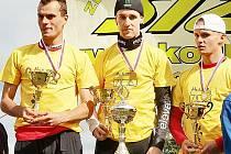 Vítězové. Zleva Jan Schulhof, Jan Matoušek a Tomáš Bláha.