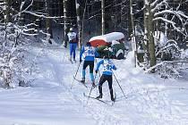 Lužická třícítka je nejtěžší závod na běžkách v Lužických horách.