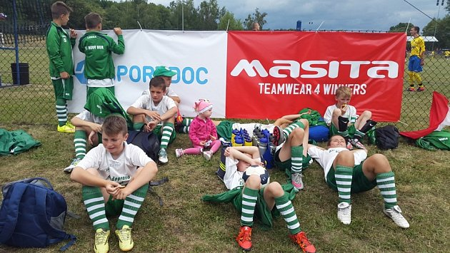 Starší přípravka FC Nový Bor se na turnaji vPolsku neztratila.